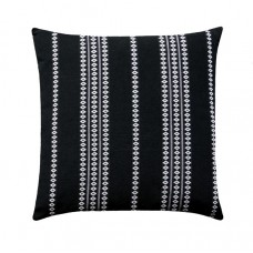 Black and White Finnish Stripe Throw Pillow Cover