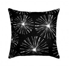 Black Sparks Pillow Cover